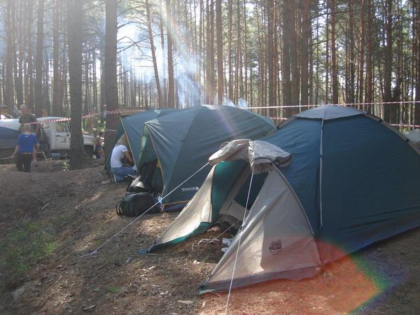 Палаточный лагерь чтобы попить чай с